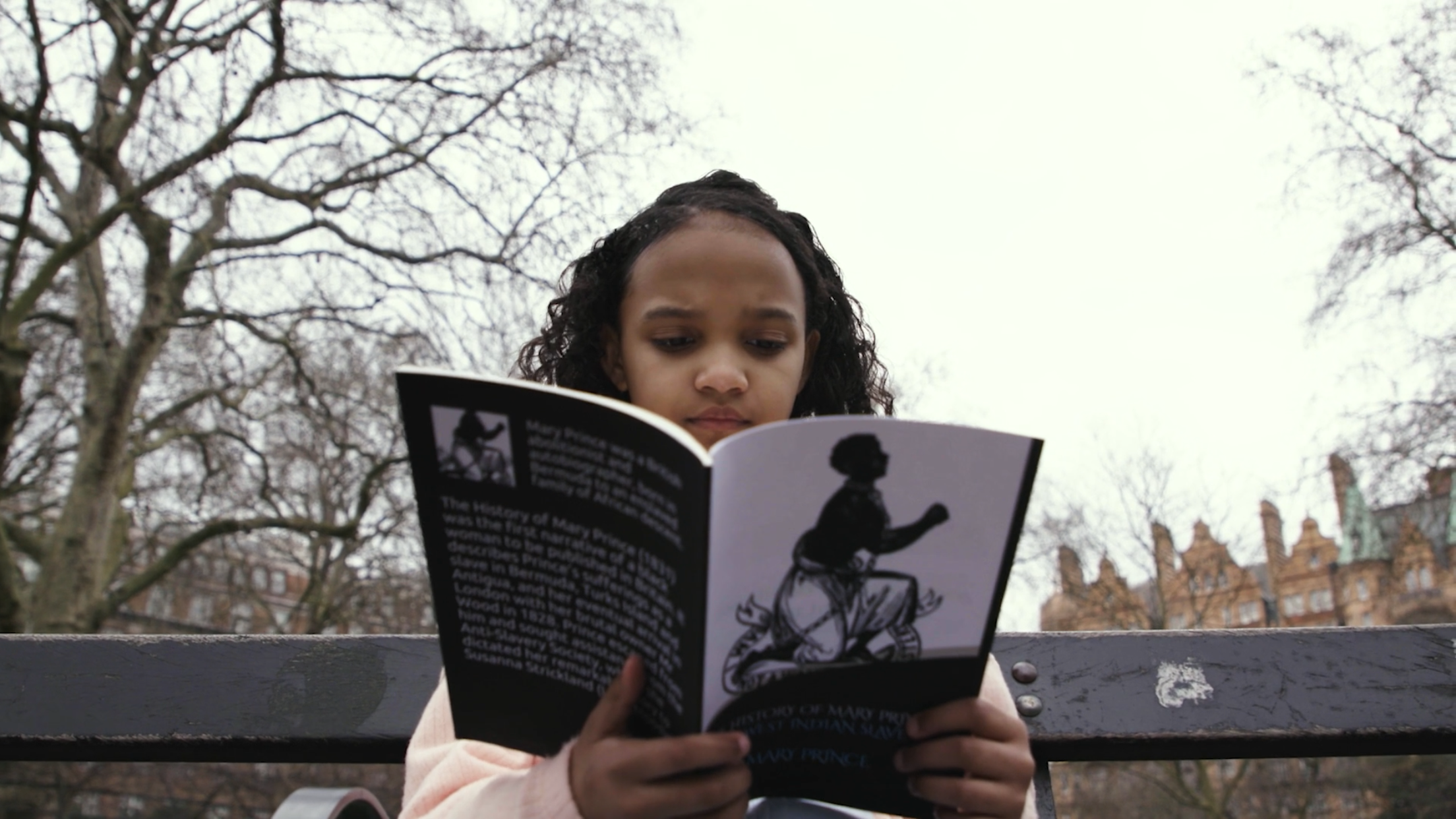 Young Bermudian Girl reading the book of Mary Prince